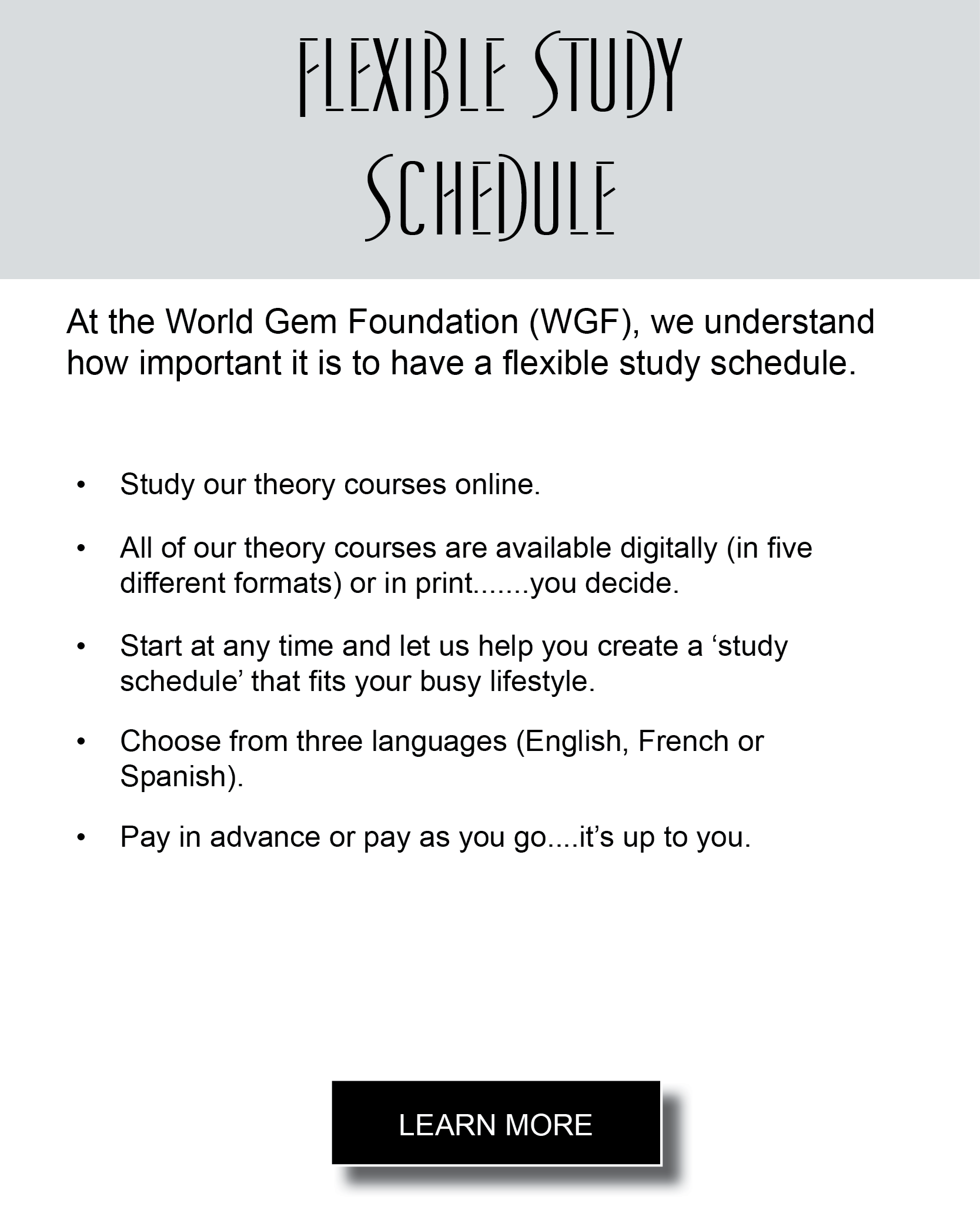 Flexible Study Schedule